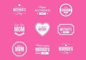 Free Mother's Day Badges and Labels Vector