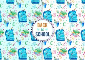 Free Vector Back To School Illustration