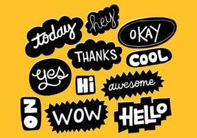 Hand Drawn Word Bubbles vector