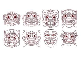 Barong Mask Vector gratuit