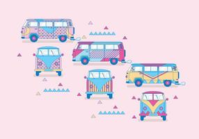 Vecteur hippie bus