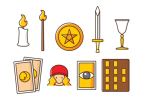 Vector Tarot Pictogrammen