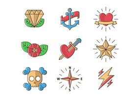 Gratis Oude School Tattoos Vector