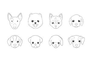 Free Hand Drawing Dog Head Vector