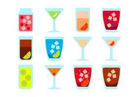 Vecteur gratuit d'icônes de boissons alcoolisées