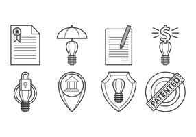 Vecteur d'icône libre de protection d'idée