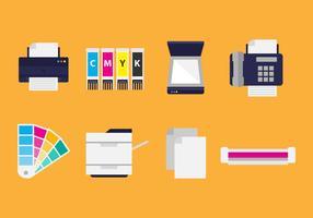 Kostenlose Flat Printing Icons