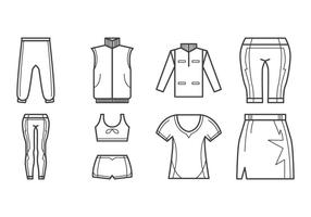 Vetor de ícone de roupas esportivas grátis