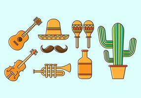 Vecteur icône mariachi gratuit