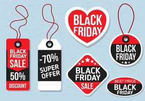 Free Vector Black Friday Labels