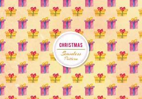 Vector libre acuarela patrón de regalos