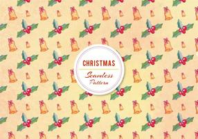 Free Vector Christmas Bell Pattern