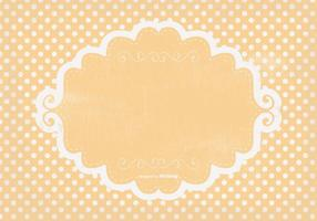 Cute Polka Dot Grunge Background vector
