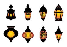 Free Arabic Hanging Lamp Vector