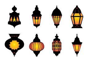 Libres árabe lámpara colgante Vector