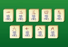 Iconos de vector de Mahjong
