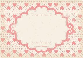 Cute Pink Hearts Grunge Background vector