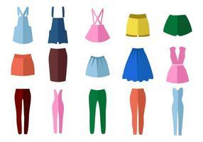 Vetor de moda estilo feminino livre