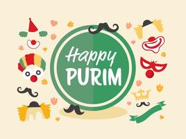 Jewish Holiday Purim Vector