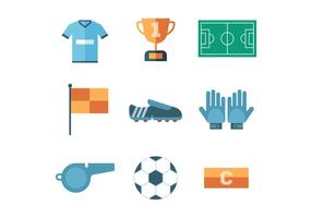 Free Soccer Icon Set Vektor