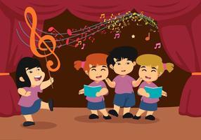 Vettore di cori di bambini