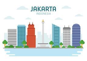 Gratis landmärke Jakarta Vector
