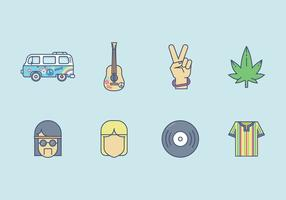 Vecteur hippie gratuit