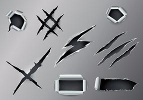 Ripped Metal Vector