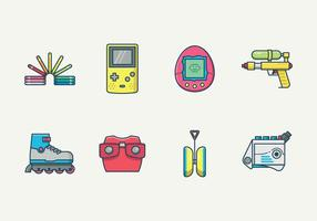 Retro Kid Toys Vector