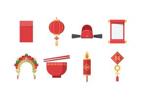 Vecteur de mariage chinois gratuit