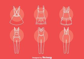 Conjunto de iconos de líneas de ropa
