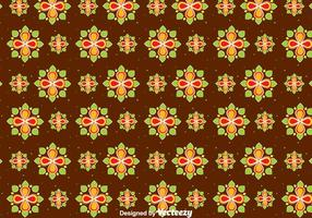 Happy Pongal Flowers Seamless Pattern