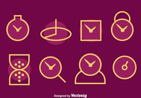 Watch Line Icons Vektor