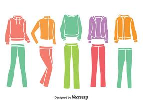 Colorful Tracksuit Collection Vector