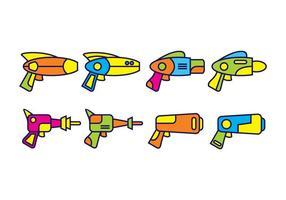 Pacote de vetores de pistola a laser grátis