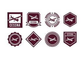 Plane Vector Badge