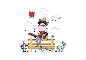 Freier Cowboy-Vektor