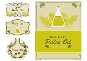 Elemento etichette olio di palma