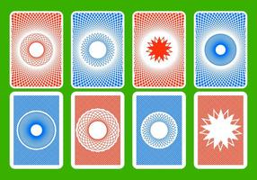 Gratis Playing Card Back Vector