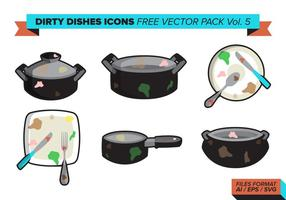 Vuile Dishes Pictogrammen Gratis Vector Pack Vol. 5