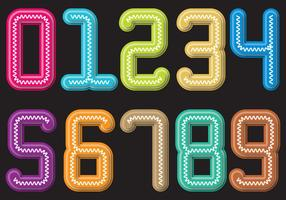 Colorful Slinky number vector