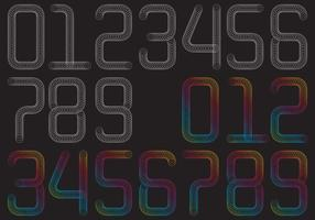 Spring Numbers vector