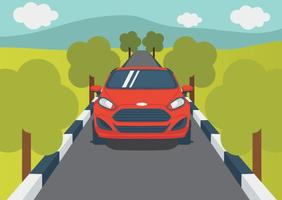 Ford Fiesta On The Road vector