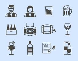 Libre Bar Iconos Vector