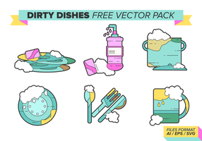 Dirty Dishes Free Vector Pack Vol. 3
