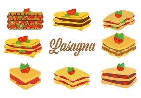 Gratis Traditionell Italiensk Mat Lasagne Vektor Illustration