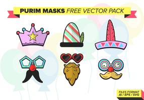 Purim Masks Free Vector Pack