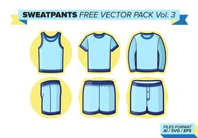 Sweatpants pack vecteur gratuit vol. 3