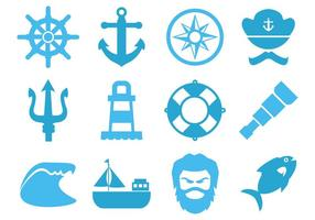 Free Sea Element Icons Vector