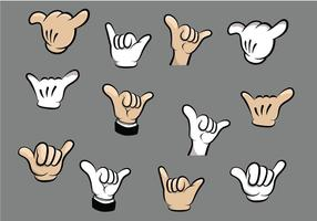 Shaka Cartoon Hand Vectors